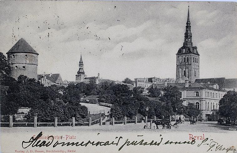 Петровская площадь, Таллин, 1910 год