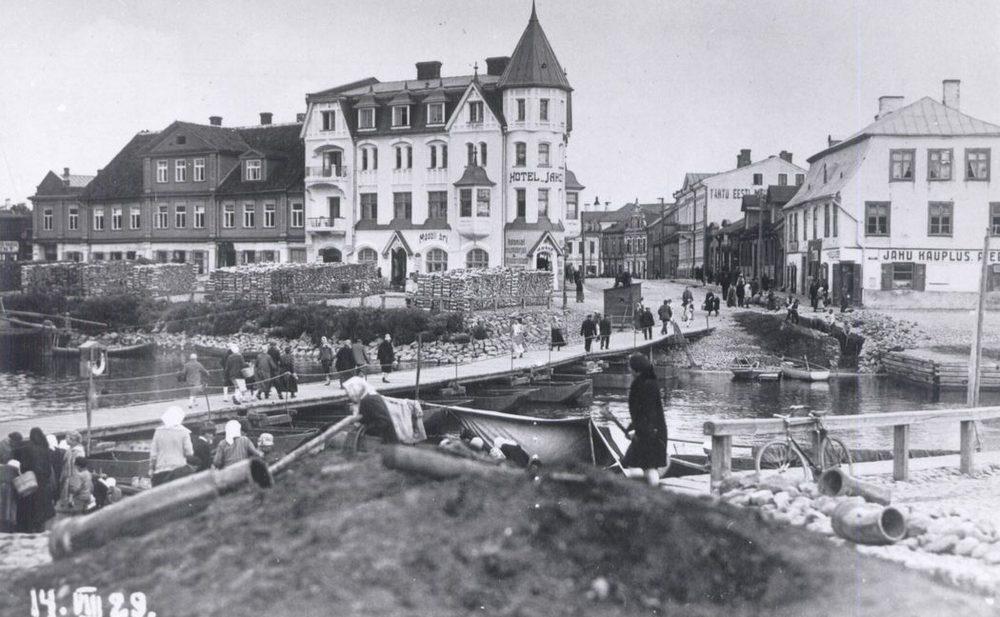 Плавучий мост, Тарту, 1929 год