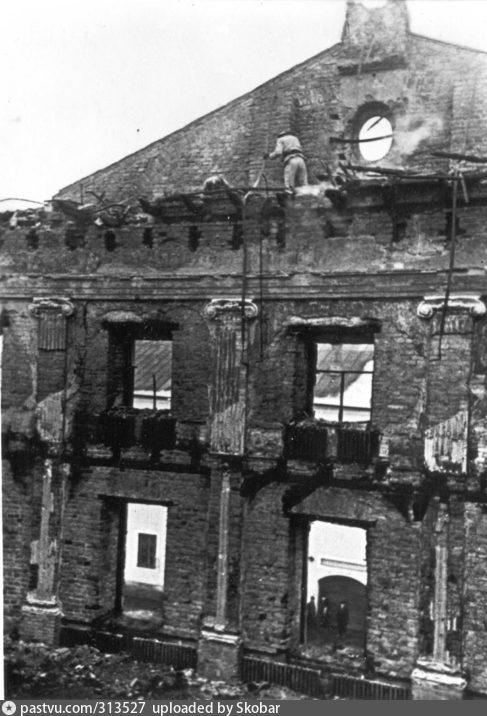 Последствия пожара 1965 года в Тартуском университете