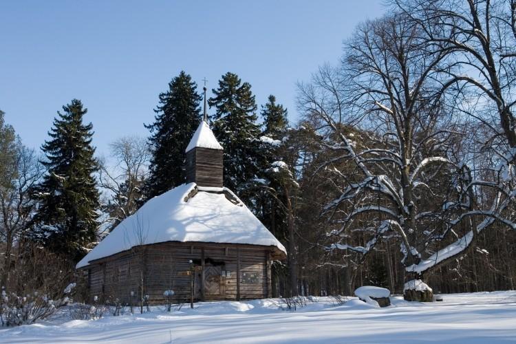 Зима в музее под открытым небом
