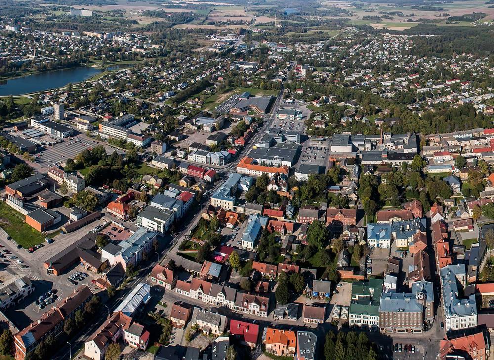 Тарту, Эстония, вид с высоты птичьего полета