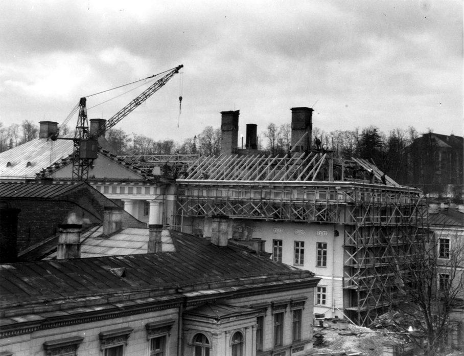 Восстановление здания главного корпуса университета Тарту, 1965 год