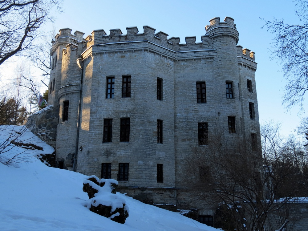 Замок Глена зимой