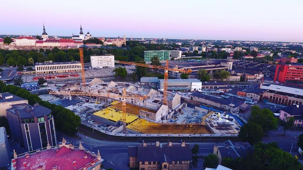 Строительство Балтийского рынка в Таллине