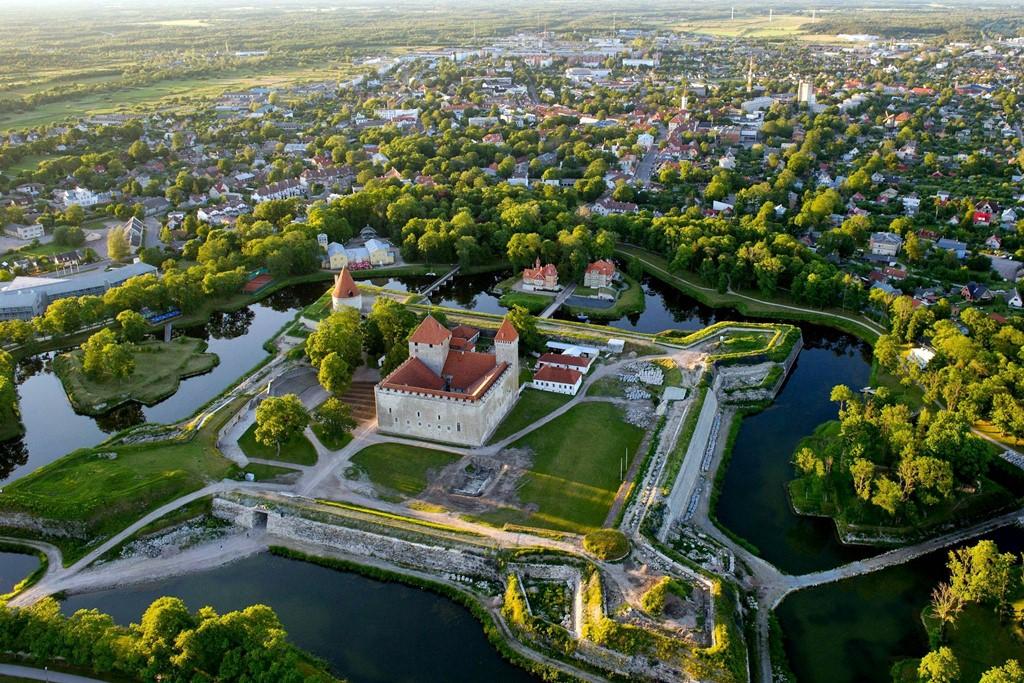 Город Курессааре в Эстонии