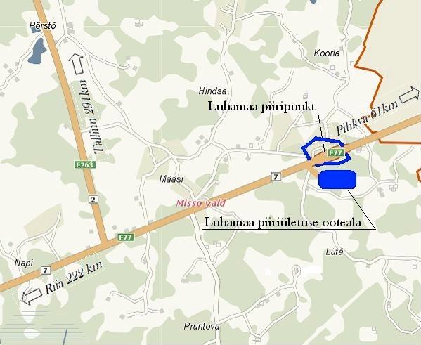 КПП Шумилкино– Лухамаа