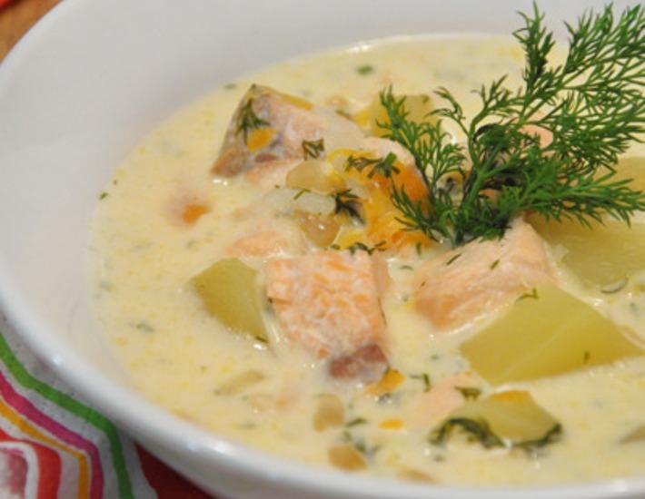 Рыбный суп на молочной основе