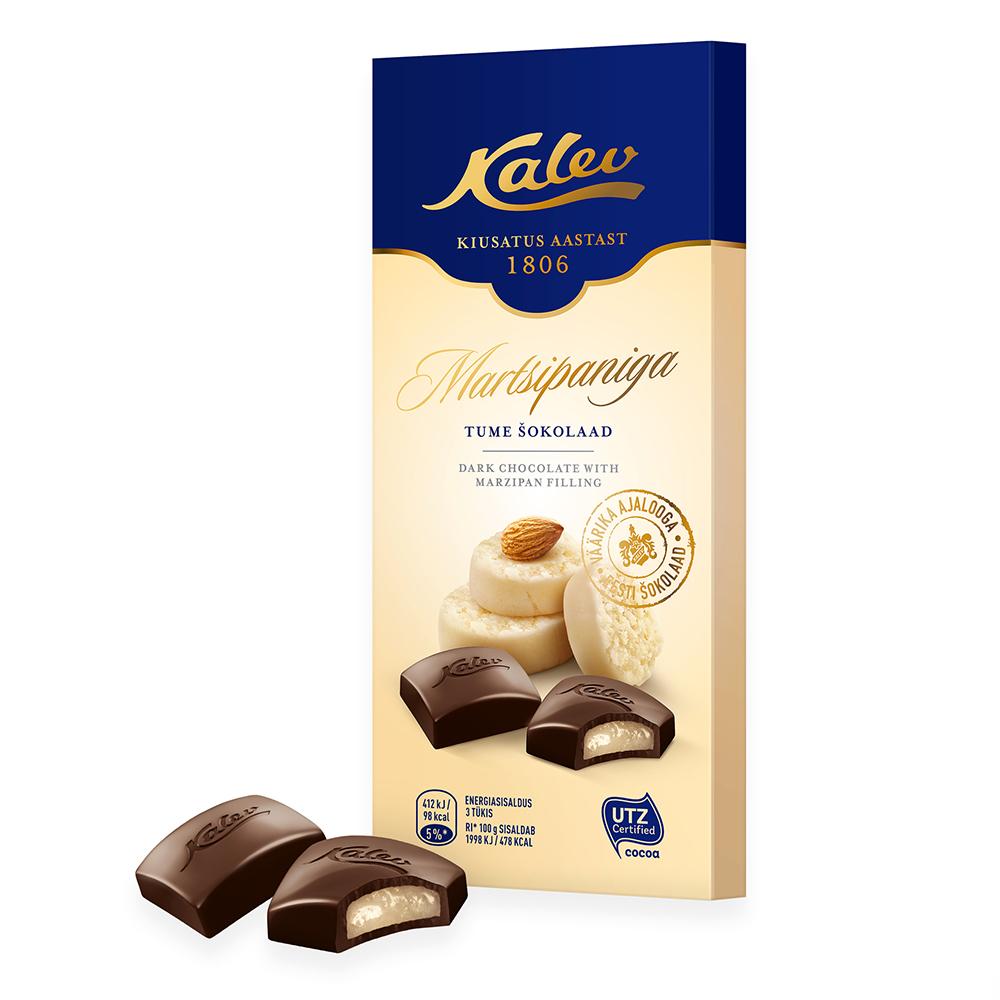 Шоколад Kalev с марципаном
