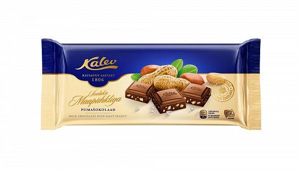 Шоколад Kalev с соленым арахисом