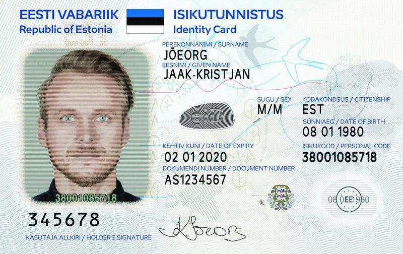 Как выглядит ID-карта Эстонии– фото