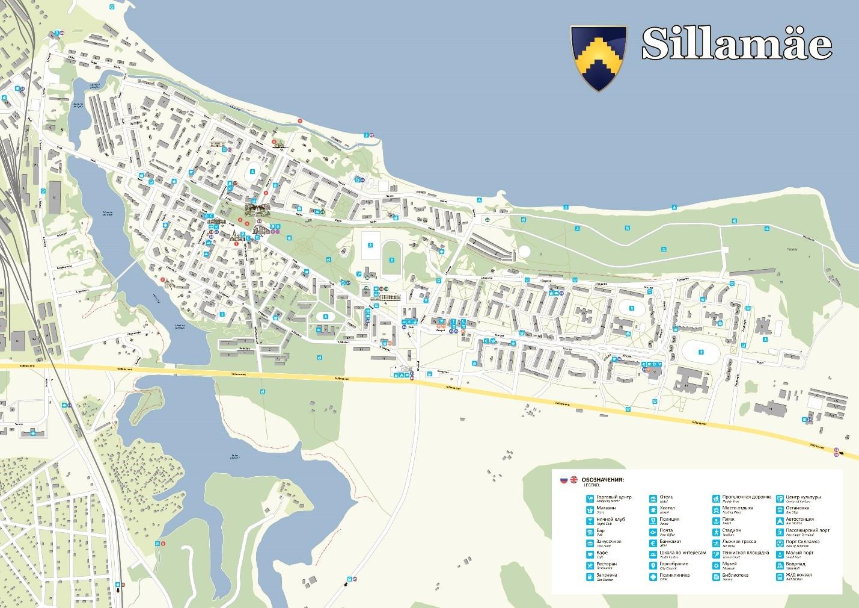 Карта Силламяэ с достопримечательностями