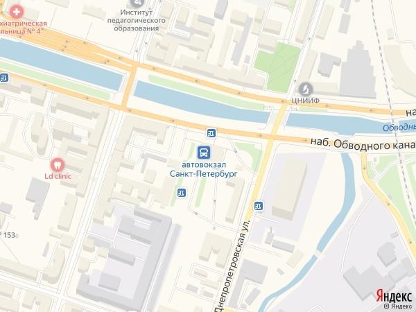 Карта питерского автовокзала