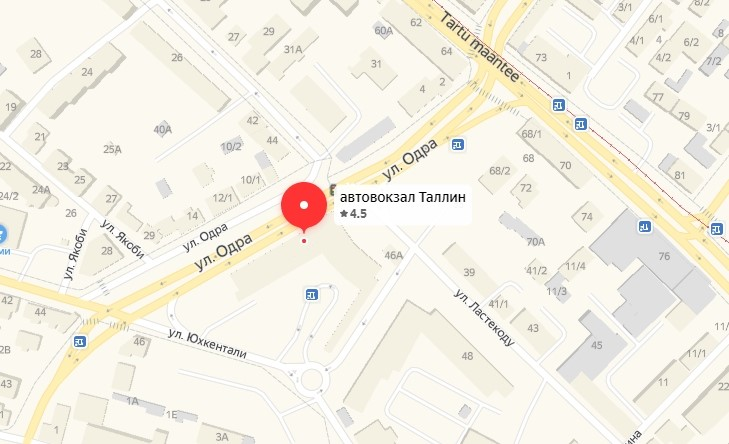 Откуда отправляется автобус до СПб из Таллина