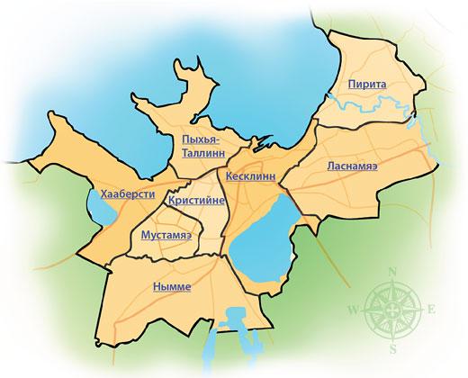 Районы Таллина