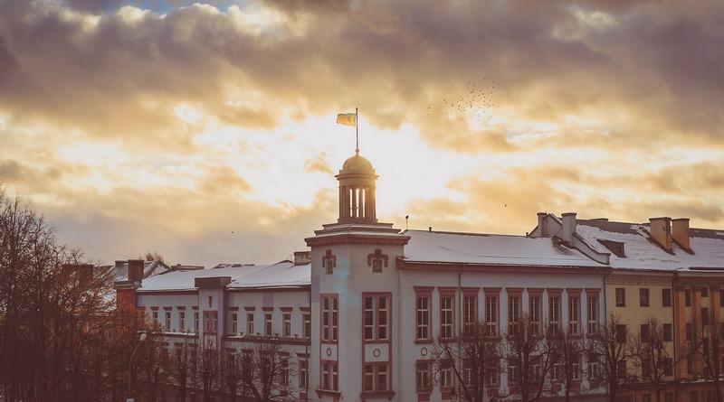 Нарва на закате, Эстония