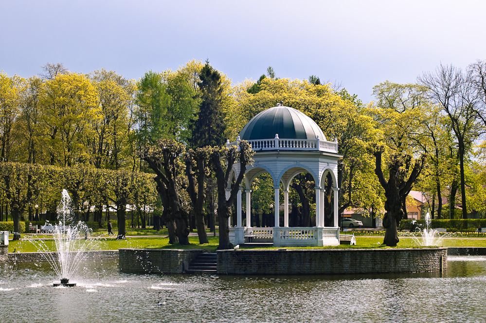 Лебединый пруд в парке Кадриорг