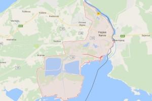Карта Нарвы