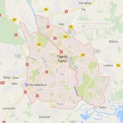 Карта Тарту на русском языке