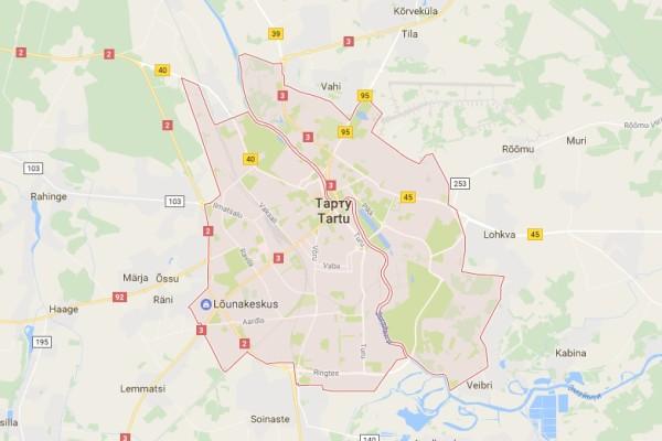 Карта Тарту