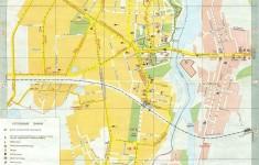 Карта Нарвы с улицами на русском языке