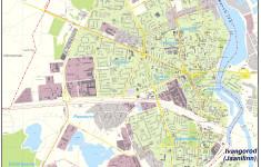 Подробная карта Нарвы с улицами и номерами домов