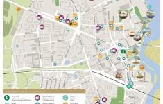 Туристическая карта Нарвы с магазинами и достопримечательностями
