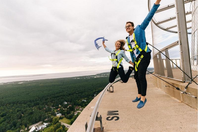 Прогулка по краю Таллинской телебашни
