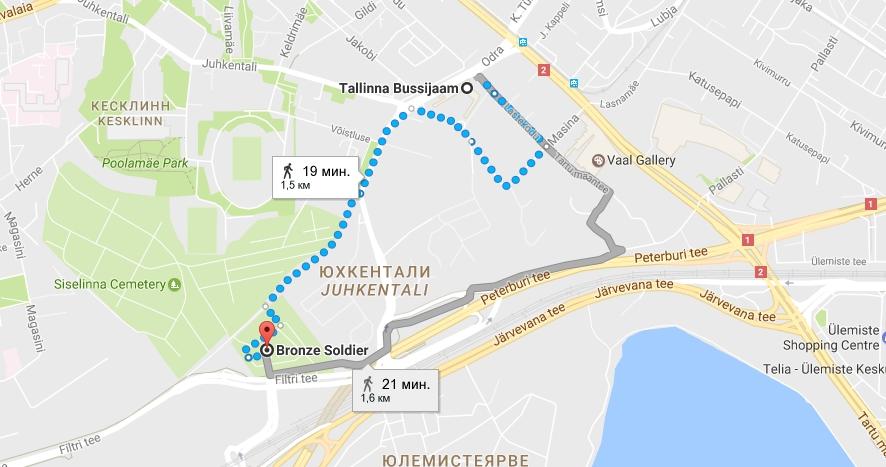 Бронзовый солдат в Таллине: как добраться