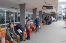Перрон автобусного вокзала Таллина