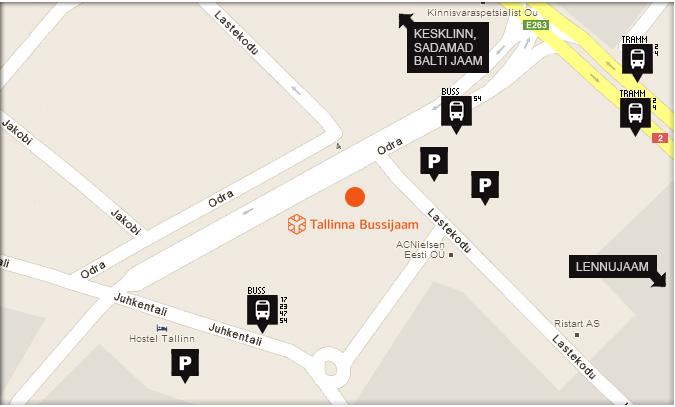 Как добраться до автовокзала в Таллине