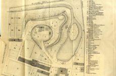 Старая карта ботанического сада Тарту