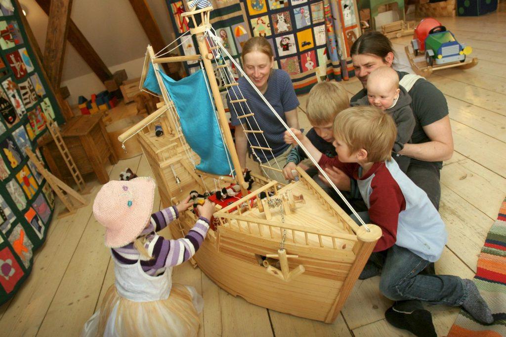 Игровая комната музея игрушек в Тарту