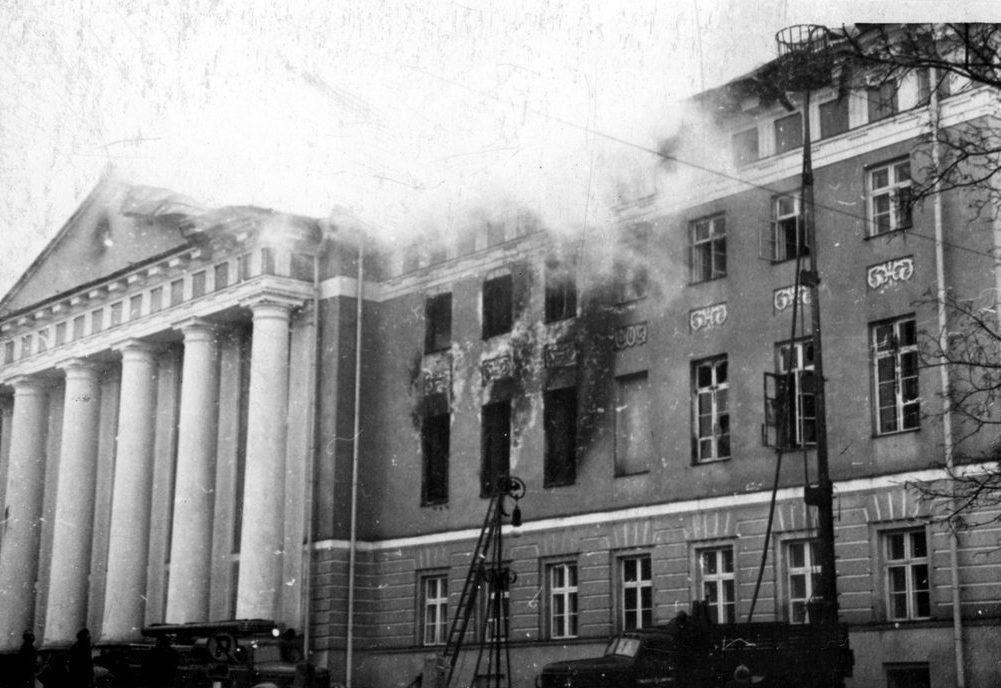 Пожар в Главном здании Тартуского университета, 1965 год