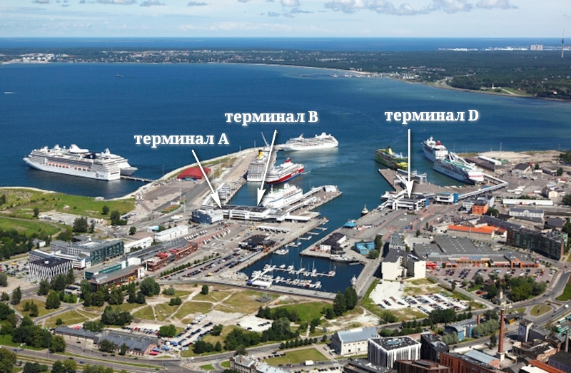 Терминалы Таллинского порта на фото