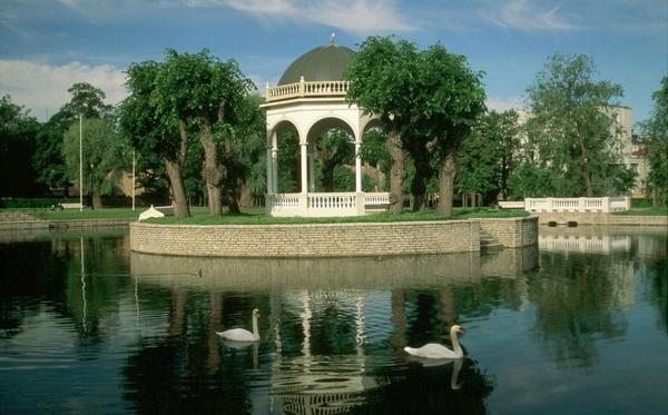 Лебединое озеро в парке Кадриорг, Таллин
