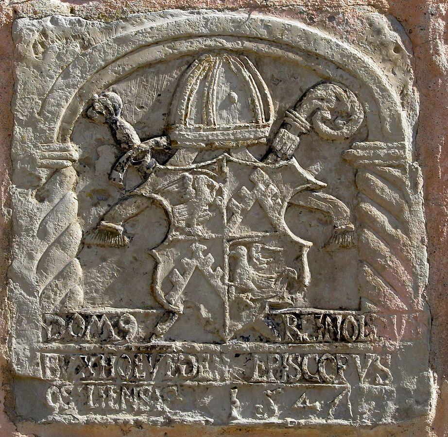 Герб Рейнгольда фон Буксгевдена на стене замка Колувере